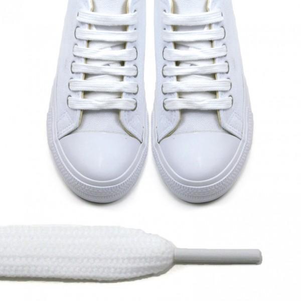 Sireturi albe - 120cm