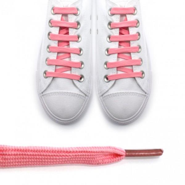 Sireturi roz pal - lungi 115cm