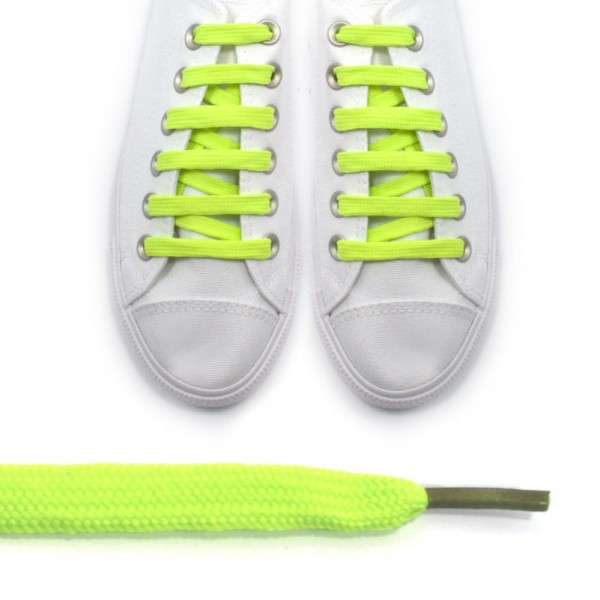 Sireturi verde fosforescent - lungi 110cm