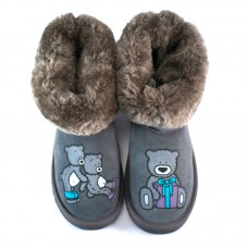 Grey Skiing Teddy
